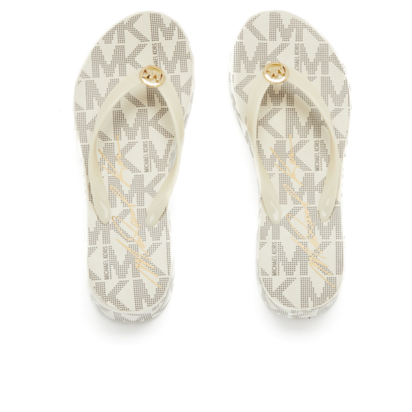 1b893dae09d MICHAEL MICHAEL KORS Women s Bedford Flip Flops - Vanilla  Image 1