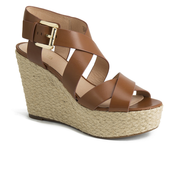 4827003ab4 MICHAEL MICHAEL KORS Women's Celia Mid Wedge Sandals - Luggage: Image 2