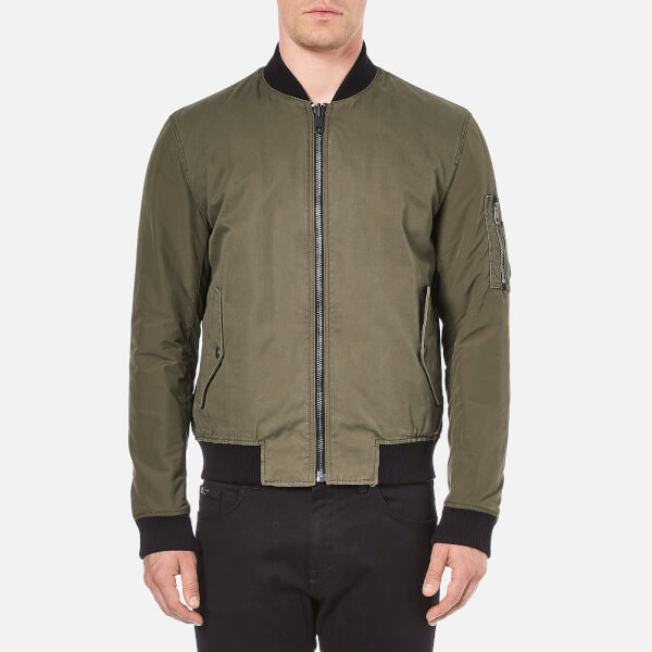 BOSS Orange Men's Odorian Contrast Bomber - Caramel
