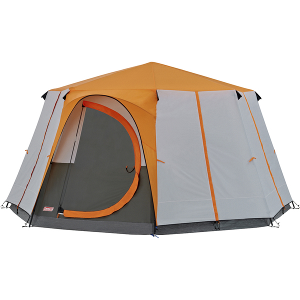 Coleman Cortes Octagon Tent (8 Person) - Grey/Orange