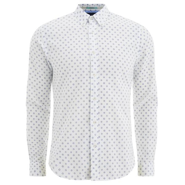 Scotch & Soda Men's Patterned Long Sleeved Shirt - White Mens ...