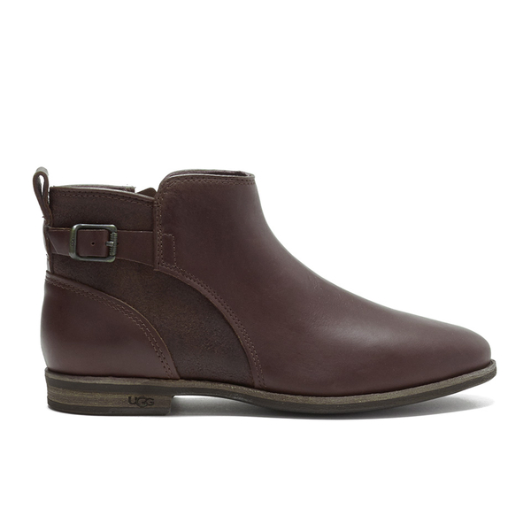 UGG Women's Demi Leather Flat Ankle Boots - Chestnut