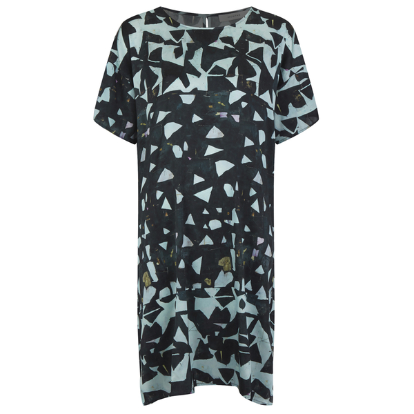 Munthe Women's Eye Silk Shape Print Dress - Dark