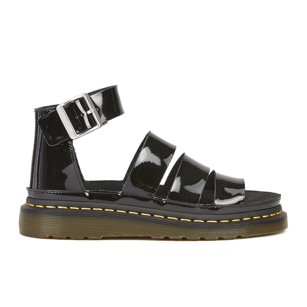 Dr. Martens Women's Shore Clarissa Patent Lamper Chunky Strap Sandals - Black