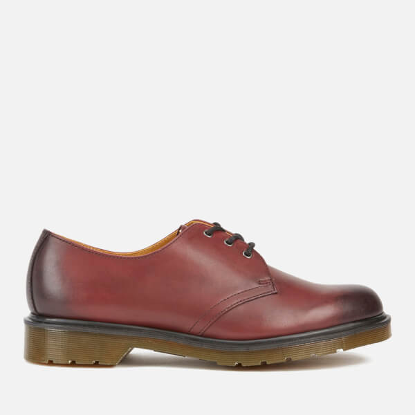 Dr. Martens Men's Core 1461 Antique Temperley Leather 3-Eye Derby Shoes - Cherry Red
