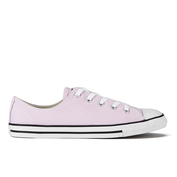 79d325e4d4f1 Converse Women s Chuck Taylor All Star Dainty Ox Trainers - Purple  Dusk Black White