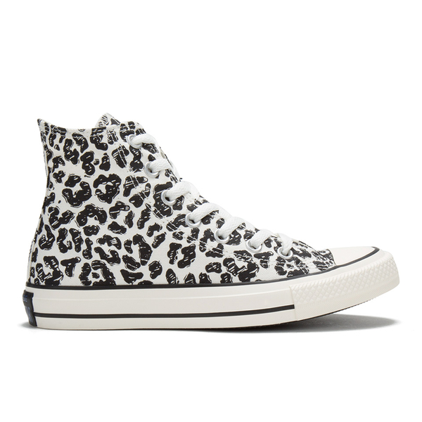 CONVERSE Chuck Taylor Unisex AS Animal Print Hi Trainers White