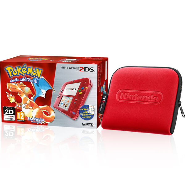 Nintendo 2DS Special Edition: Pokémon Red Version + Red Case