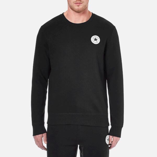 Converse Men's Crew Neck Sweatshirt - Converse Black