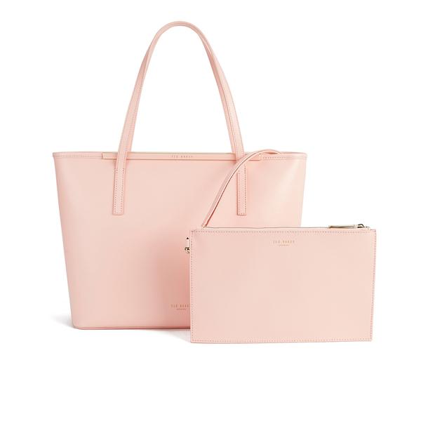 016656230f7 Ted Baker Women's Celiaa Pop Clutch Large Crosshatch Shopper Bag - Peach:  Image 1
