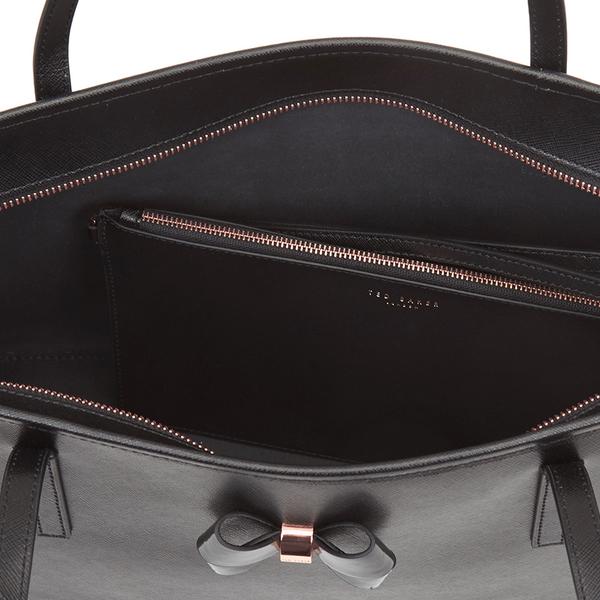 819c0d7ac5 Ted Baker Women's Biancaa Bow Detail Crosshatch Large Shopper Bag - Black:  Image 4