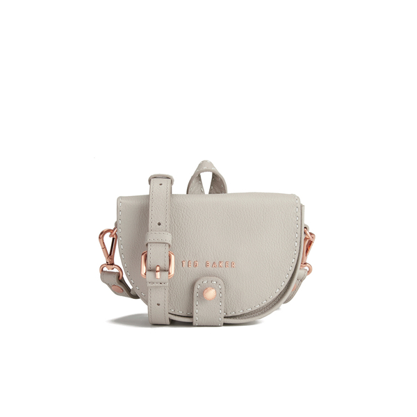 243ed4060 Ted Baker Women s Eliee Stab Stitch Leather Mini Crossbody Bag - Light  Grey  Image 1