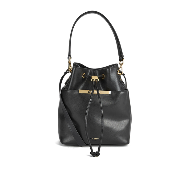 8a8788b3142d3 Ted Baker Women s Adrene Large Metal Bar Bucket Bag - Black  Image 1