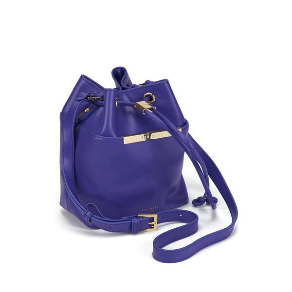 c7fd665c3 Ted Baker Women s Ersilda Metal Bar Mini Bucket Crossbody Bag - Bright  Blue  Image 2