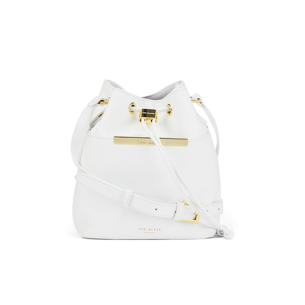 bf58d69d1 Ted Baker Women s Ersilda Metal Bar Mini Bucket Crossbody Bag - White   Image 1