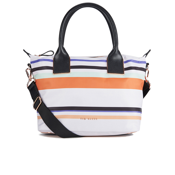Ted Baker Women s Senley Tribal Stripe Nylon Small Tote Bag - Lilac  Image 1 3dfa9893af