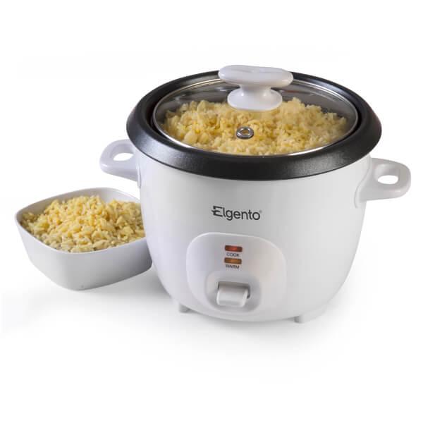 Elgento E19013 Rice Cooker - White - 1.5L