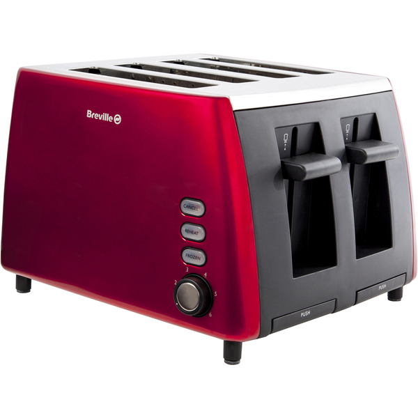 breville vtt465 4 slice toaster red iwoot. Black Bedroom Furniture Sets. Home Design Ideas