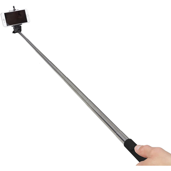 kitvision basic bluetooth selfie stick with phone holder black iwoot. Black Bedroom Furniture Sets. Home Design Ideas