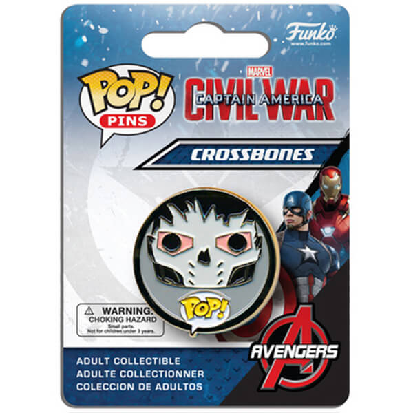 Badge Pop! Pin Crossbones Captain America: Civil War