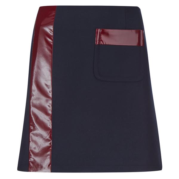 Sonia by Sonia Rykiel Women's Contrast Mini Skirt - Navy/Brownie