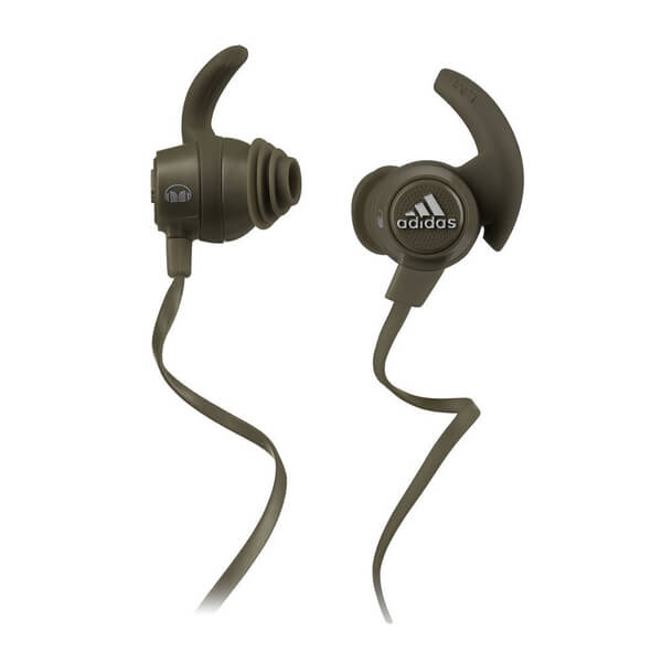 Monster Adidas Sports Response Earphones with Contol Talk - Olive