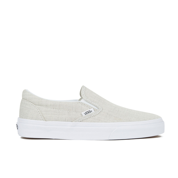fbffe299d04fa7 Vans Women s Classic Slip-on Chambray Trainers - Grey True White  Image 1