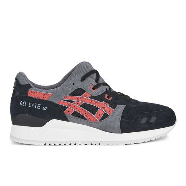 Asics Gel-Lyte III 'Granite Pack' Trainers - Black/Chilli