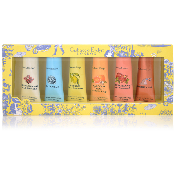 Crabtree & Evelyn Hand Therapy Sampler 6 x 25g: Image 1