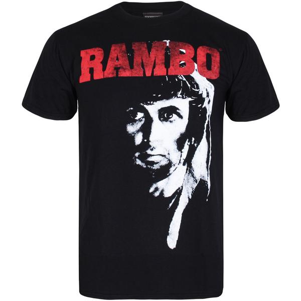 T-Shirt Homme Rambo 2 - Noir