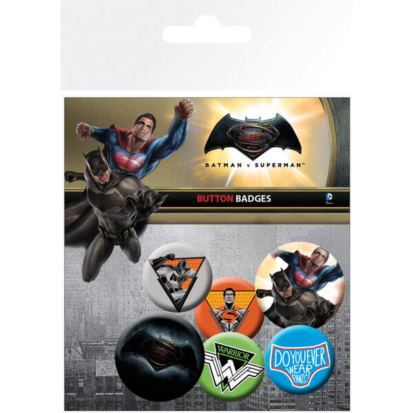 DC Comics Batman v Superman Dawn of Justice Mix Badge Pack