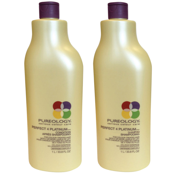 Pureology Perfect 4 Platinum 洗发水和护发素(1000毫升)