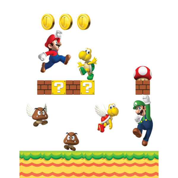 New Super Mario Bros. Wall Stickers