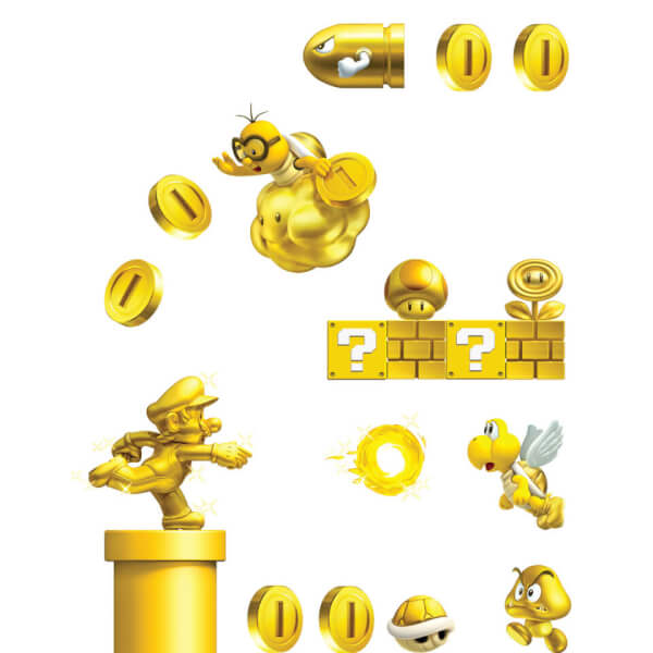 New Super Mario Bros. 2 Wall Stickers (Large)
