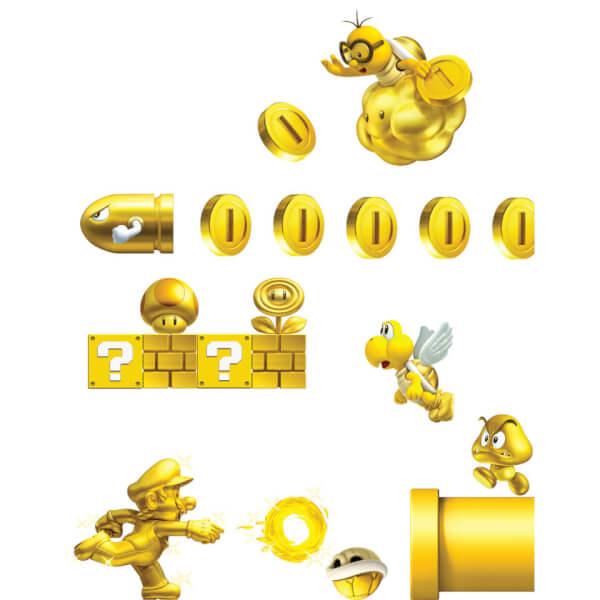 New Super Mario Bros. 2 Wall Stickers (Small)