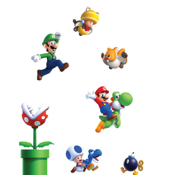 New Super Mario Bros. U Wall Stickers (Small)