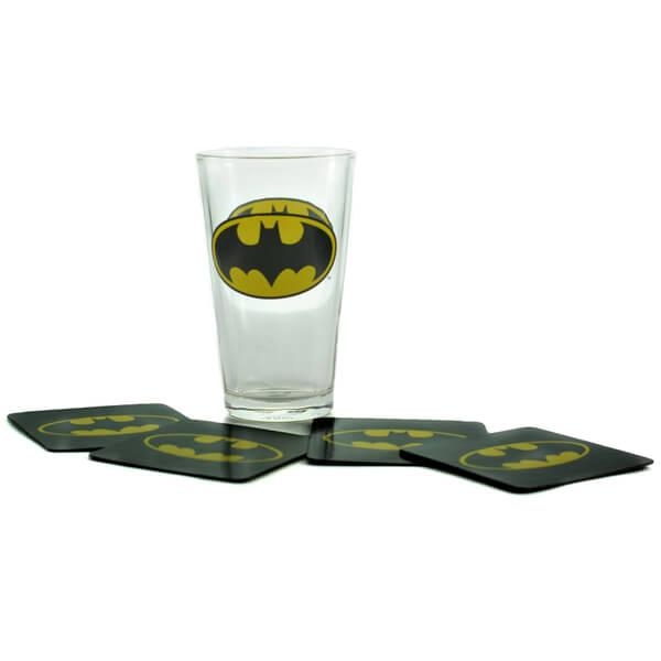 DC Comics Batman Glass and Coaster Set in Gift Box