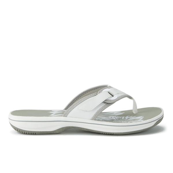 29def1c3259d Clarks Women s Brinkley Mila Toe Post Sandals - White  Image 5