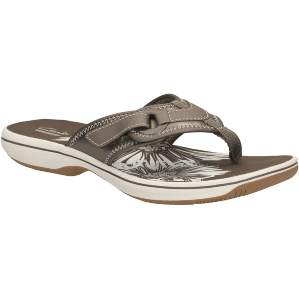 eb8a8d931d34 Clarks Women s Brinkley Mila Toe Post Sandals - Pewter  Image 2