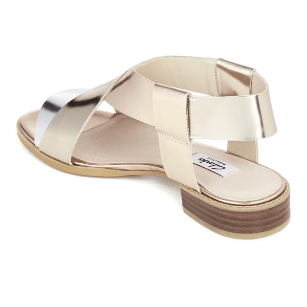 8c65769e86c26c Clarks Women s Bliss Meadow Gladiator Sandals - Metallic Combi  Image 6