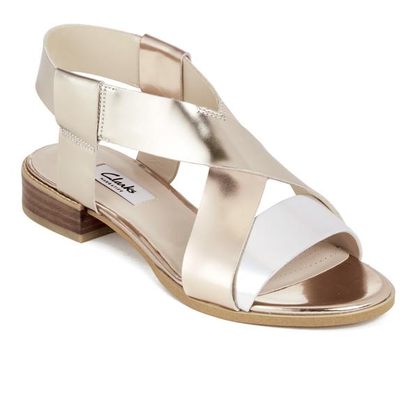 43a82dcda712fd Clarks Women s Bliss Meadow Gladiator Sandals - Metallic Combi  Image 4