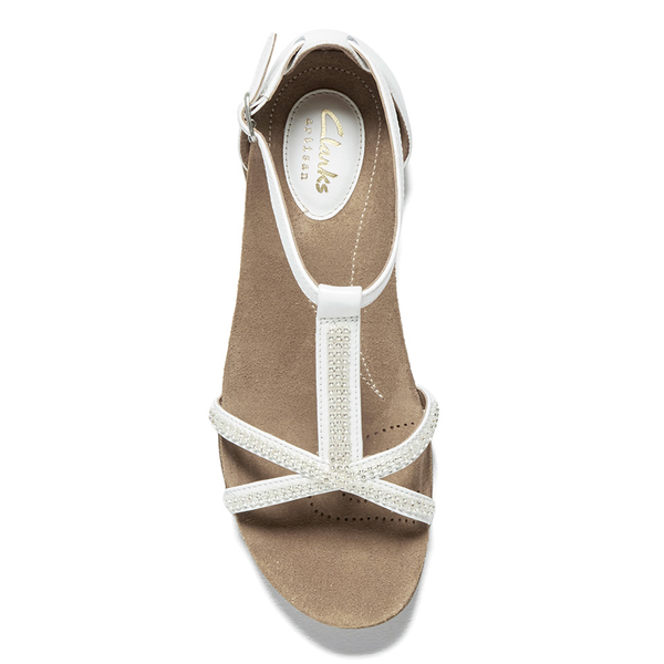 550efee90817a Clarks Women s Raffi Star Leather Beaded Sandals - White  Image 5