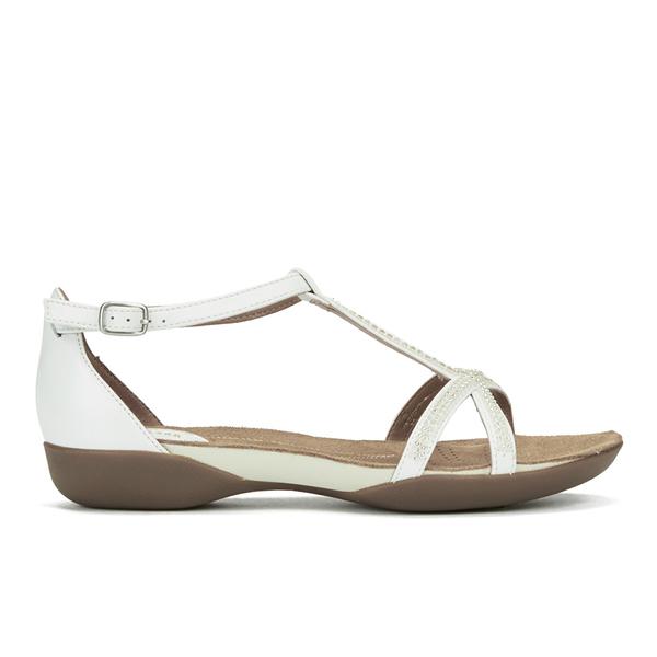 561f8014e2da0 Clarks Women s Raffi Star Leather Beaded Sandals - White  Image 1