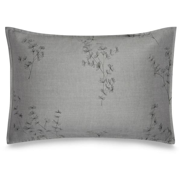 Calvin Klein Acacia Printed Pillowcase Grey Homeware