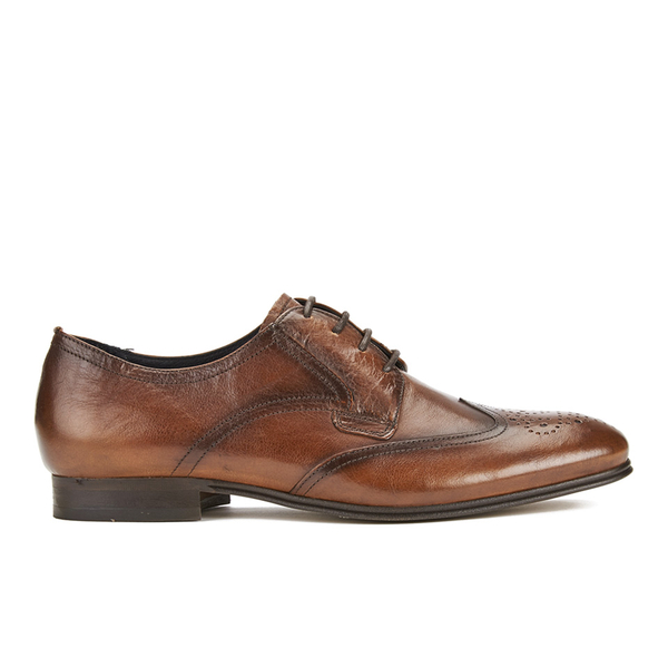 Hudson London Men's Williston Leather Brogue Shoes - Tan