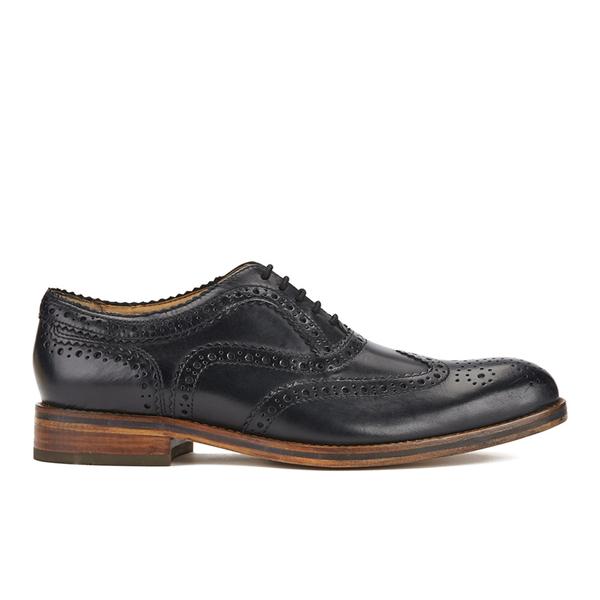 Hudson London Men's Keating Leather Brogue Shoes - Black