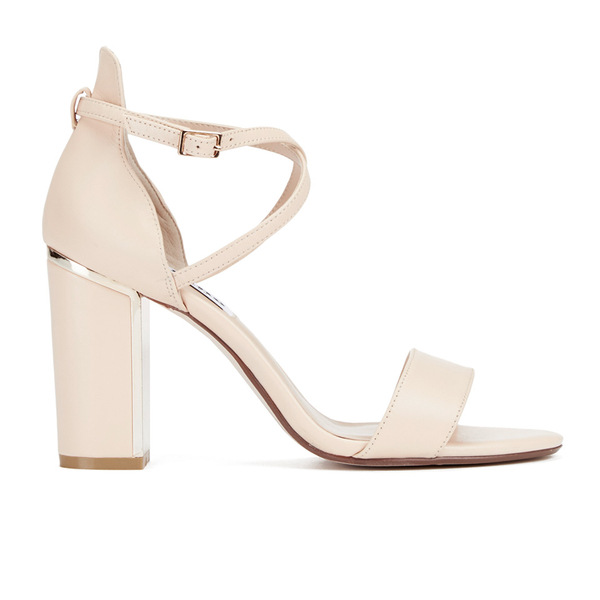 Dune Women s Maybell Leather Block Heeled Sandals - Nude  Image 1 09750c7f17