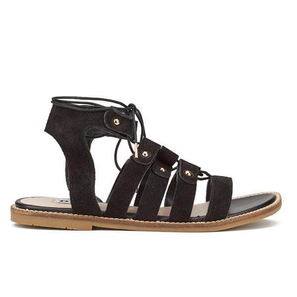 Dune Women's Lorelli Suede Gladiator Sandals - Black