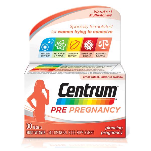 Comprimés Centrum pré-grossesse (30 comprimés)