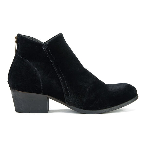 H Shoes by Hudson Women's Apisi Velvet Heeled Ankle Boots - Black
